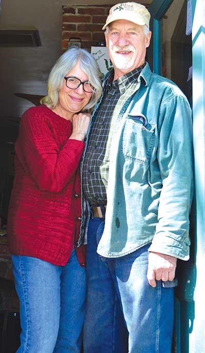 Michele Carmel and Albie Barden at their Norridgewock home