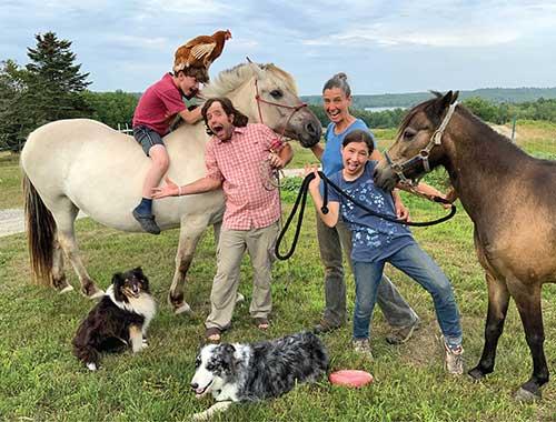 Some of the Mandala Farm family. Photo courtesy of Mandala Farm