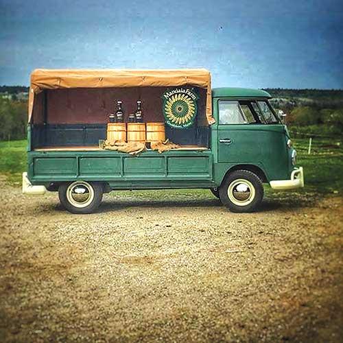Mandala Farm's 1965 VW single cab transporter. Mandala Farm photo.