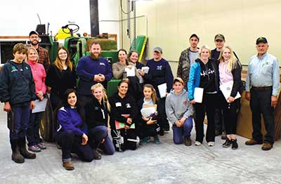 2017 tractor safety course students at Hall's Implement Co. in Windham with instructors Jason Lilley and George Hall.