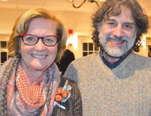 Tim Nason with U.S. Rep. Chellie Pingree at a MOFGA dinner at Harraseeket Inn in Freeport. Jean English photo