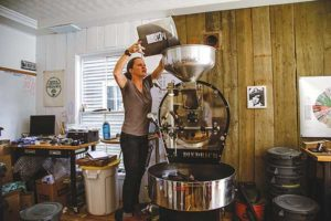 As a microroaster, 44 North processes beans in small batches. Photo courtesy of 44 North Coffee
