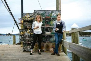 Melissa Raftery and Megan Wood co-own 44 North Coffee in Deer Isle. Photo courtesy of 44 North Coffee