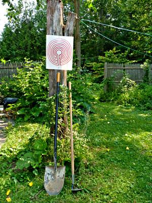 Permablitz labyrinth sign