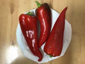 Carmen sweet peppers by Gayle Crowley