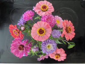 JUDGES' AWARD: Crego mix asters & State Fair Zinnias by Jeffrey Mabee