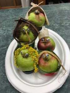 """Seckel Pear Characters! """"Playing with my food""""! by Amy Frances LeBlanc"""
