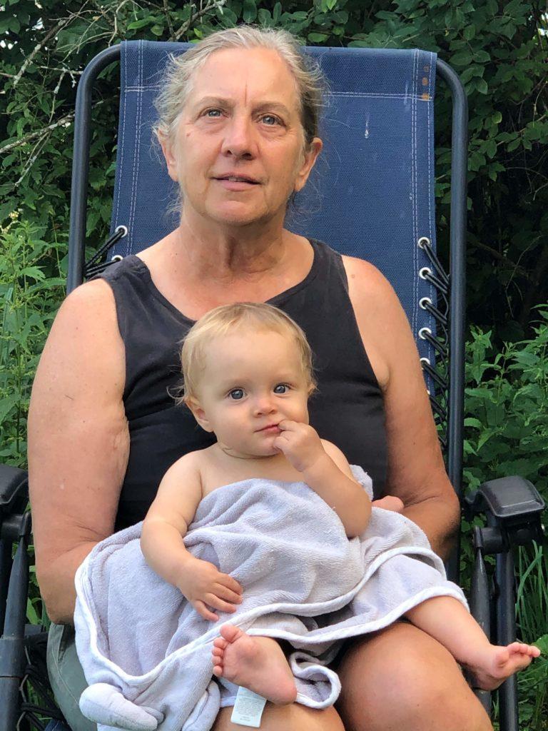 Roberta Bailey with her granddaughter, Juniper Ziegner.