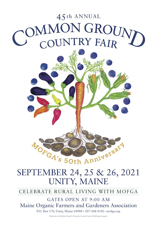 The 2021 Common Ground Country Fair poster
