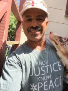Stephen Oliver with dog
