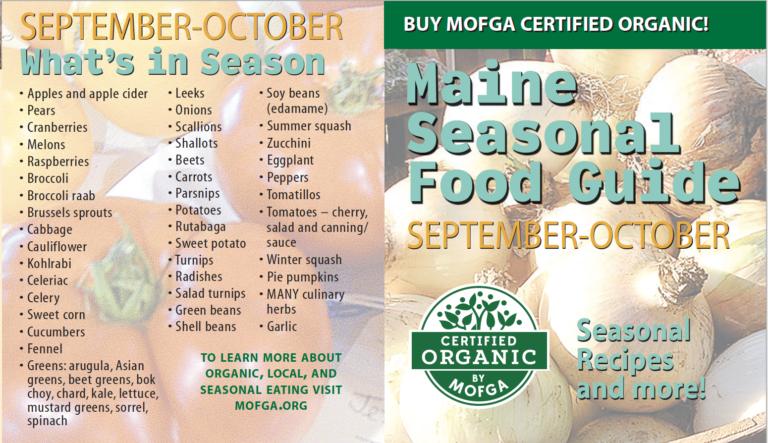 September-October Seasonal Food Guide
