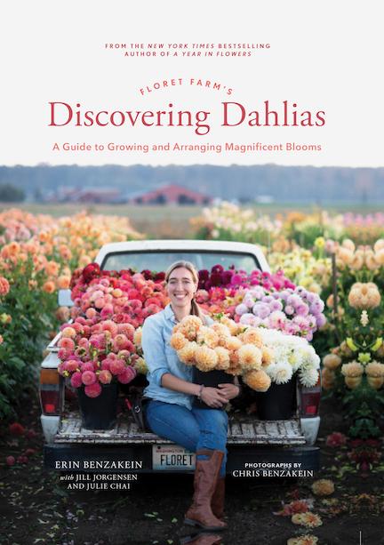 Book Cover, Discovering Dahlias